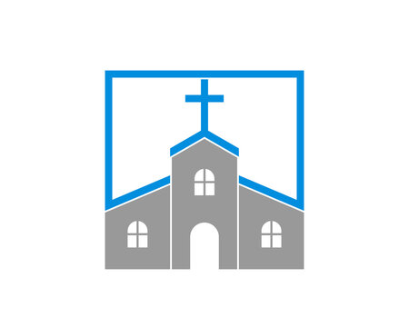 Church with square shape logo