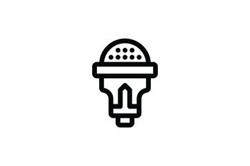 Toys Outline Icon - Microphone Fototapete