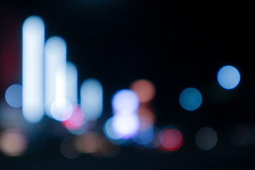 Artistic style - Out-of-focus urban street light abstract texture background is perfect for your designs. Fotomurales