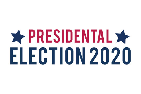 2020 United States of America Presidential Election. Election banner Vote 2020. Patriotic Stars. Poster, banner, background design. Flat vector illustration. USA elections. Your vote is your voice.