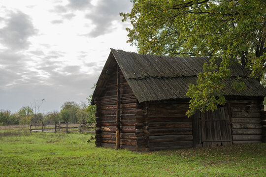 Traditional wooden Ukrainian country house