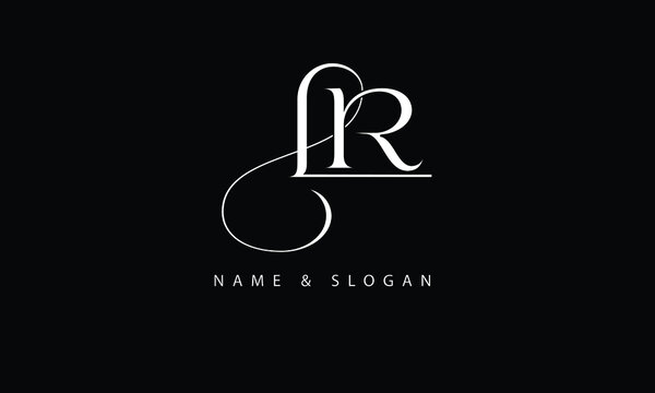LR, RL, L, R abstract letters logo monogram