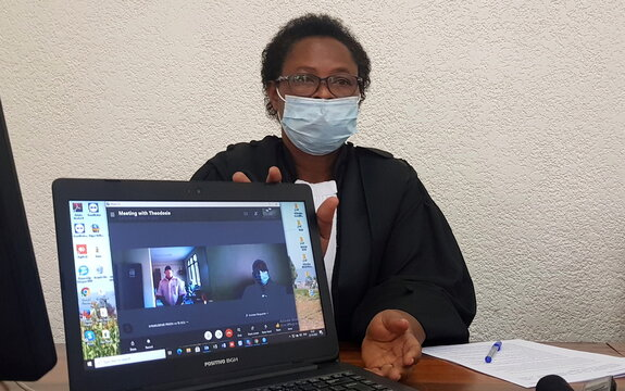 Judge delivers ruling to Paul Rusesabagina via a Skype, in Kigali