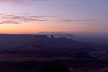 Sunrise desert landscape Southwest USA