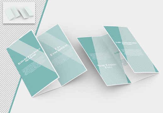 Mockup of Trifold Brochures