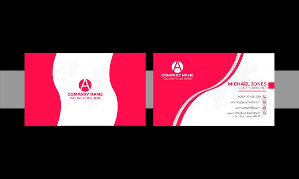 unique corporate business card design free template