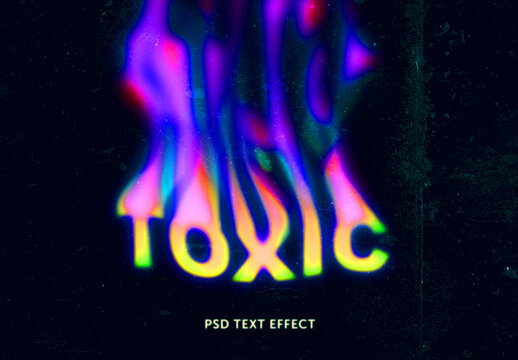 Toxic Text Effect