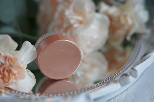flesh-colored concealer with flowers