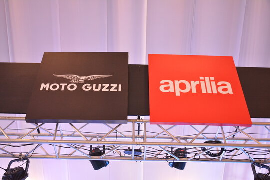 Moto guzzi and aprilia motorcycle sign in Pasay, Philippines