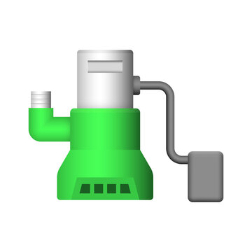 Submersible sewage pump vector icon. Also called electric submersible pump (ESP), slurry and dewatering pump. For Waste water drainage in factory and industry, sewage plant and construction area.