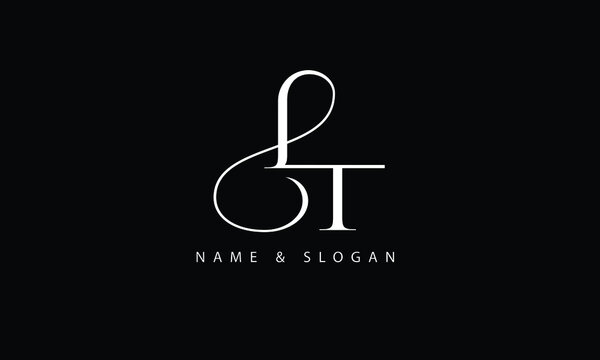 LT, TL, L, T abstract letters logo monogram