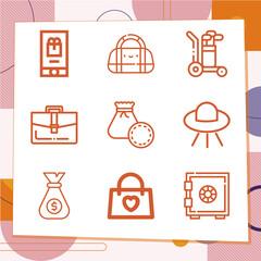 Fototapeta Simple set of 9 icons related to merchandise obraz