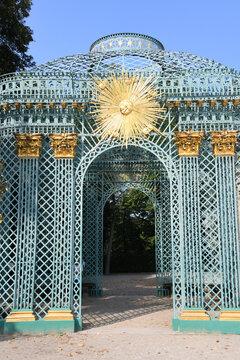 Die historische Sonnenlaube befindet sich im öffentlichen Palast neben dem Schloss Sanssouci in Potsdam. Potsdam, 12. September 2020
