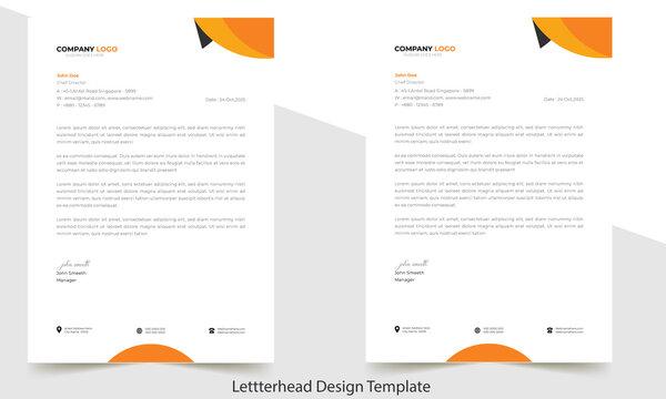 Letterhead Design Template A4 size