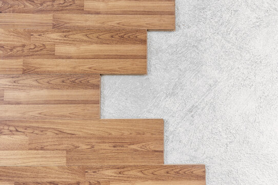Wooden flooring installation and renovation, with base cement floor