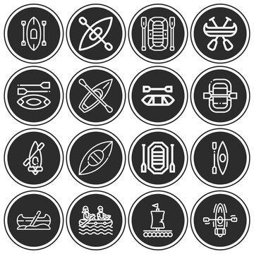 16 pack of dewey  lineal web icons set