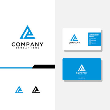 letter ae logo design and business card vector template