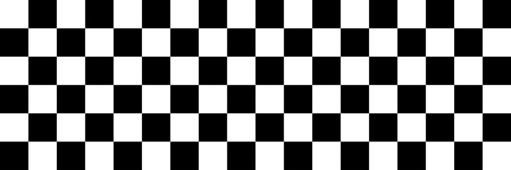Pattern with black and white mosaic background. Finish flag. Square, chess pattern. Black and white background. Design element for wallpapers. Race flag, car racing sport. Vector illustration. EPS 10