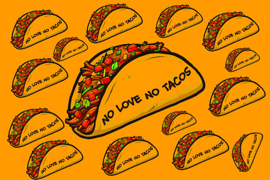 Tacos Wallpaper Background, Love Tacos
