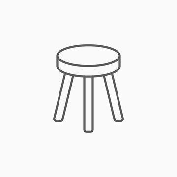 stool chair icon, chair vector illustration