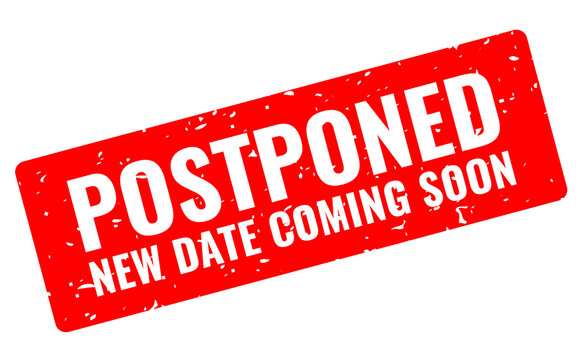 Postponed event grunge banner
