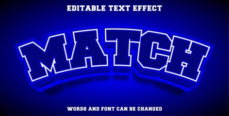 Wall Mural - Match editable text effect