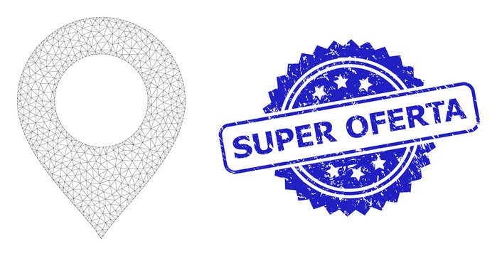 Rubber Super Oferta Rosette Watermark and Mesh Carcass Map Mark