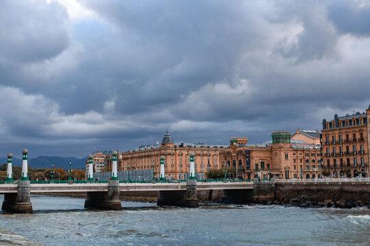 A view to  Kursaal bridge  in San Sebastian SPain