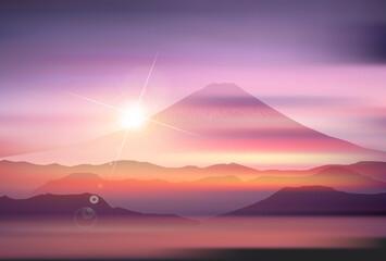 富士山 年賀状 風景 背景