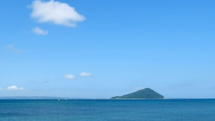 Wall Mural - 海と島 姫島