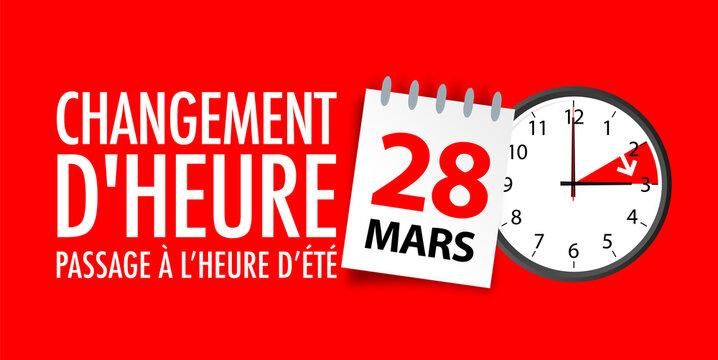 Changement d'heure 2021 / heure d'été : dimanche 28 mars