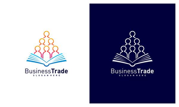 Book People logo design vector, Colorful People logo design template, Icon symbol