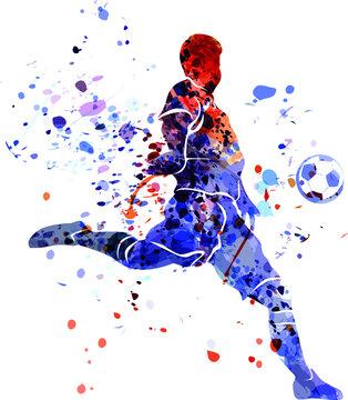 Vector illustration of soccer