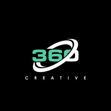 360 Letter Initial Logo Design Template Vector Illustration