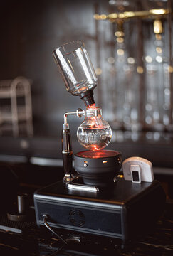 brew drip coffee in cafe