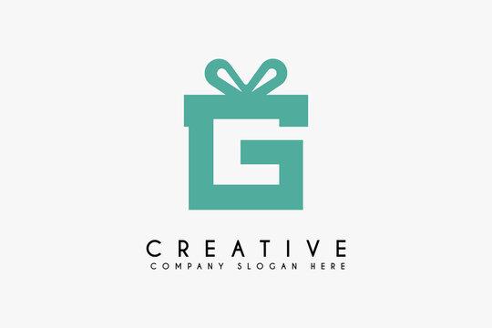Initial Letter G gift logo design vector illustration. Letter G icon design. Suitable for Business logos,isolated on white background