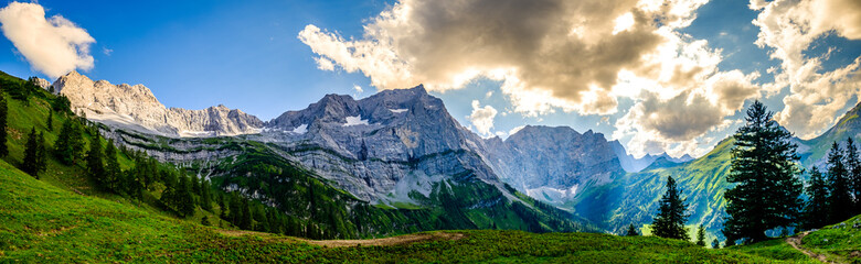 Wall Mural - landscape at the eng alm in austria