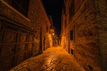 Characteristic alley of the old town in Southern Italy