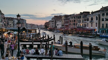 venice canal gondola summer vacation sunset