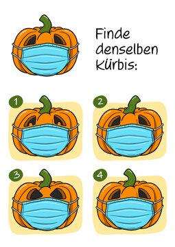 Rätselbild Halloween Corona Virus