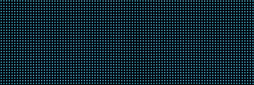 real image, blue shining dots from front view LED lights screen. network concept for graphic design background.