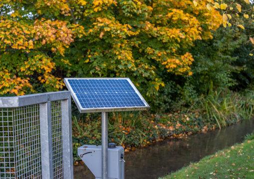 Small remote solar panel