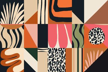 Nowoczesny abstrakcyjny wzór egzotycznej ilustracji