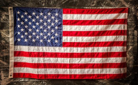wooden us flag