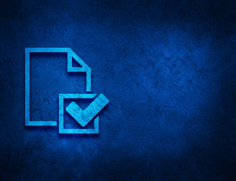 Checklist icon artistic abstract blue grunge texture background