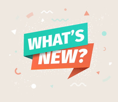 Whats new vector isolated icon. Advertising speech bubble.