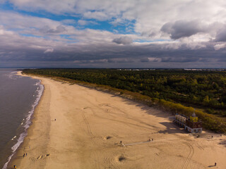 Plaża Stogi w Gdańsku/The Stogi beach in Gdansk, Pomerania, Poland