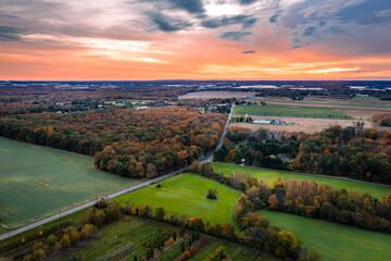 Drone Sunrise in Plainsboro Princeton New Jersey