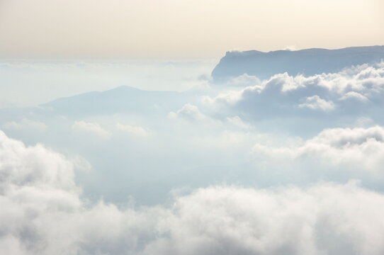 Over clouds landscape
