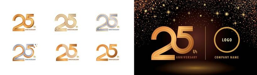 Fototapeta Set of 25th Anniversary logotype design, Twenty five years Celebrate Anniversary Logo obraz